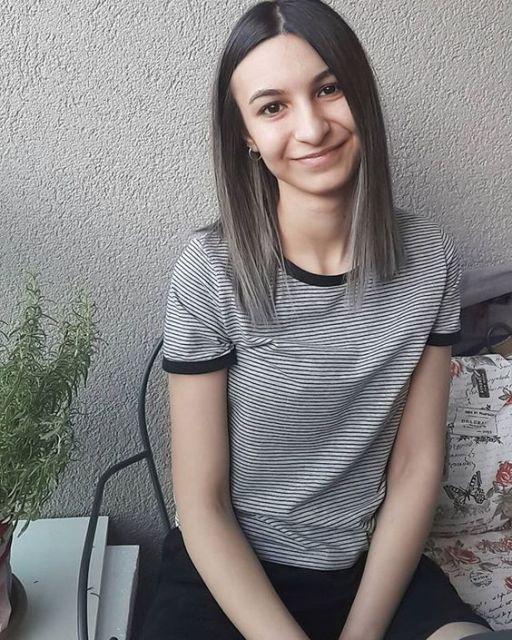 cabelo preto e cinza