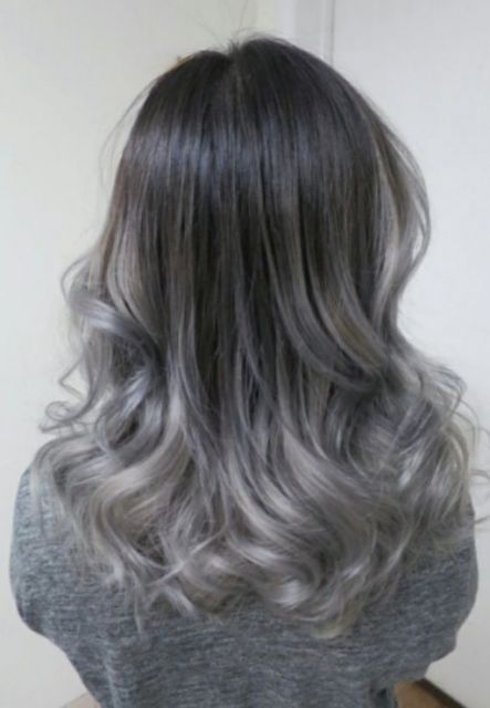 ombré hair cinza