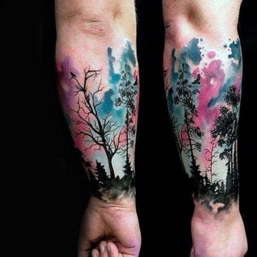 tatuagem-de-arvore-aquarela-ideias