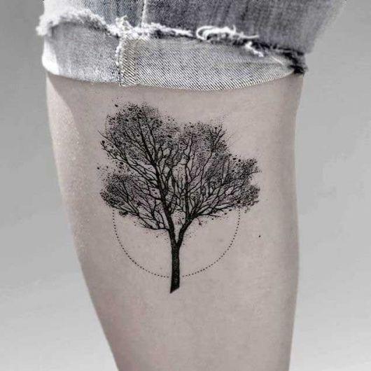Tatuagem de rvore significado varia es e 70 fotos for Minimalista significado
