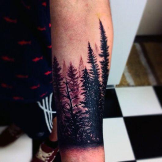 tatuagem-de-arvore-pinheiros