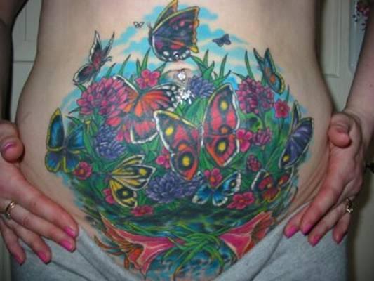 tatuagem para cobrir estrias colorida