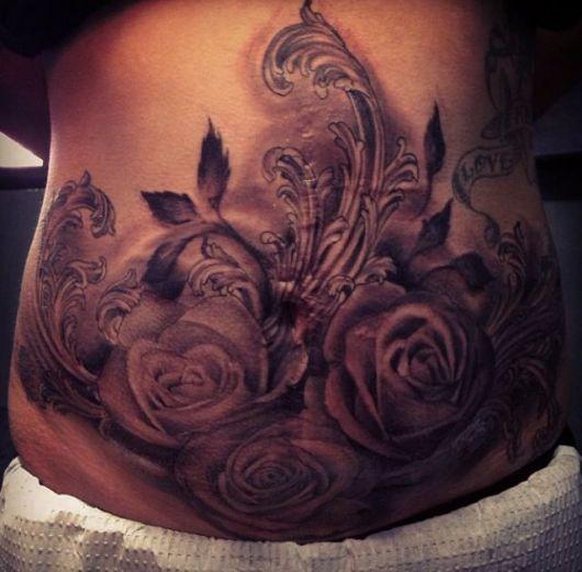 tatuagem para cobrir estrias desenho tribal