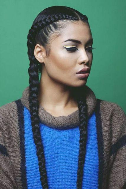 penteado negra