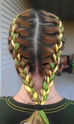 penteado com fitas
