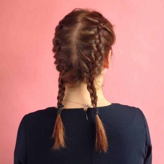 penteado cabelo médio