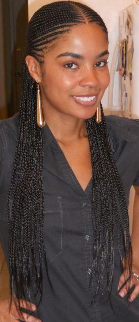 cabelo com trança raiz