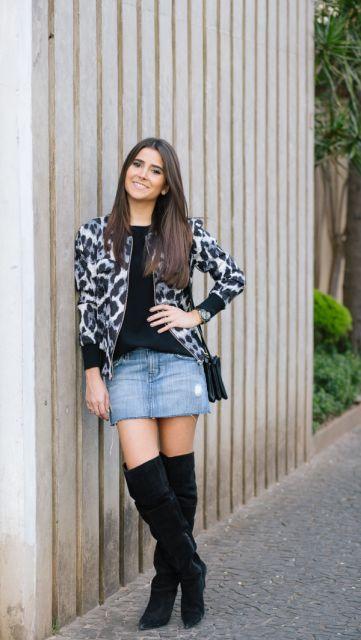 look-para-rodeio-com-saia-jeans-curta
