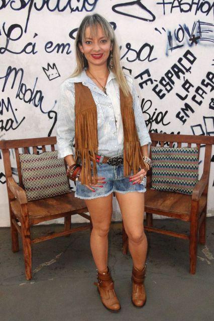 look-para-rodeio-com-short-e-camisa