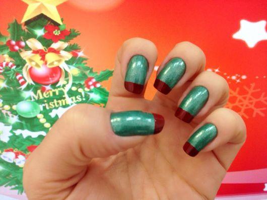 unhas-para-o-natal-francesinha-verde-e-vermelha