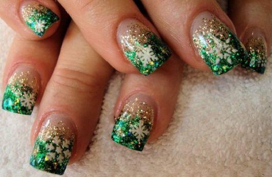 unhas-para-o-natal-glitter-verde