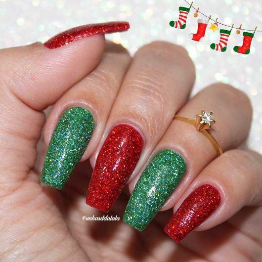 unhas-para-o-natal-glitter-vermelho-e-verde