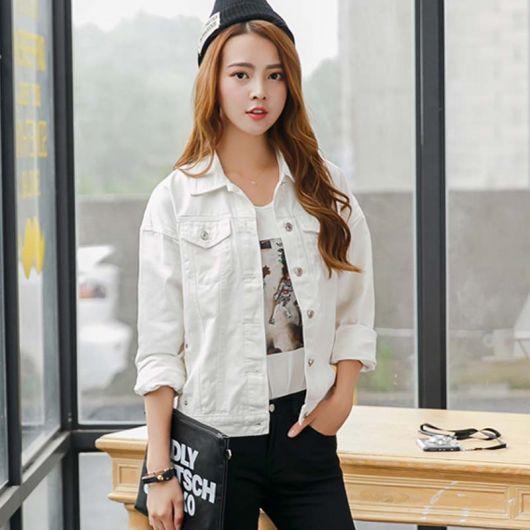 combinações com jaqueta branca feminina
