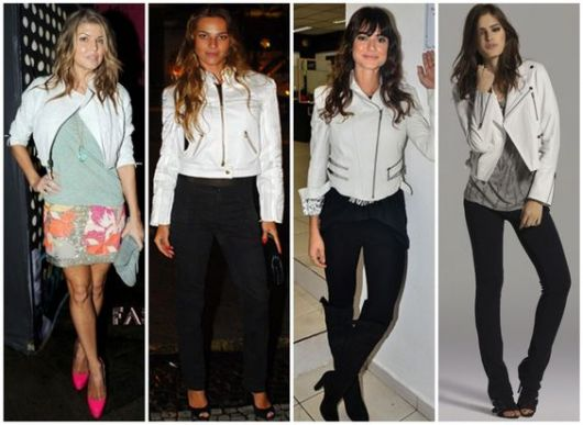 looks com jaqueta branca feminina