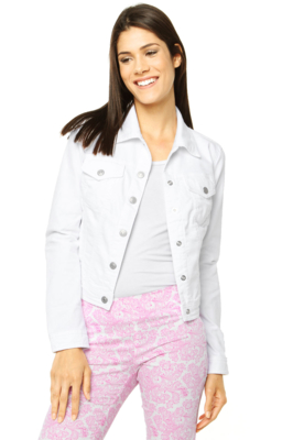 jaqueta branca feminina tecido sarja