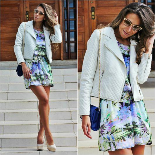 fotos de jaqueta branca feminina
