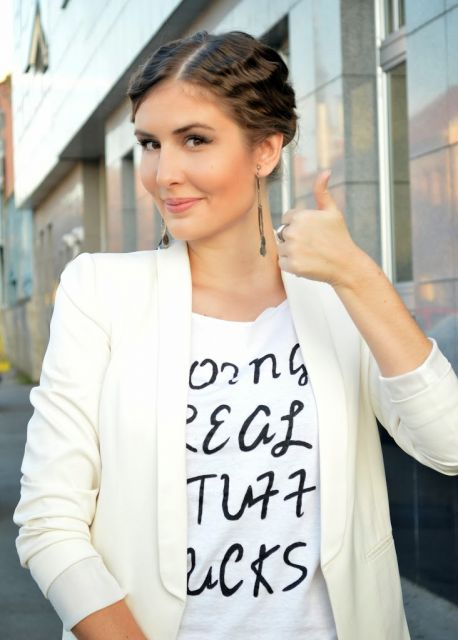 jaqueta branca feminina modelo sarja