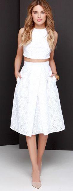 look branco saia
