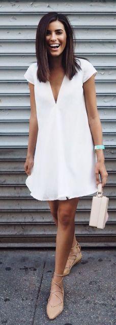 vestido branco praia