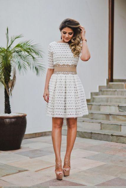 vestido branco com cinto