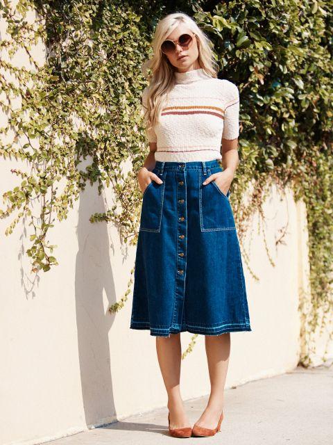 saia-jeans-midi-com-sandalia-destaque-como-usa
