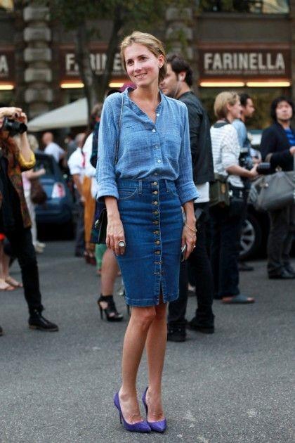 Fabuloso Saia Jeans Midi: Como usar? Modelos e + de 60 looks! RP31