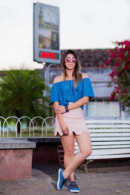 blusa ciganinha look