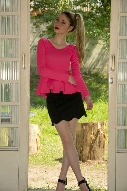 look blusa peplum