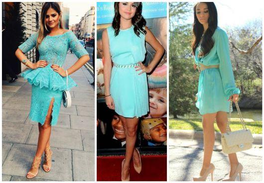 Bolsa De Festa Tem Que Combinar Com Sapato : Vestido azul tiffany de festa como combinar e modelos
