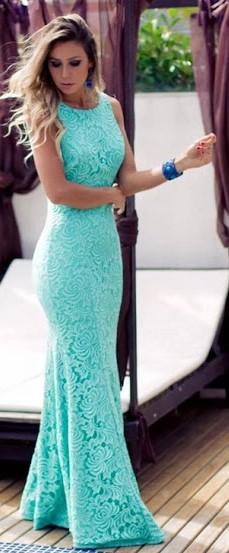 Imagens de vestido de festa azul tiffany
