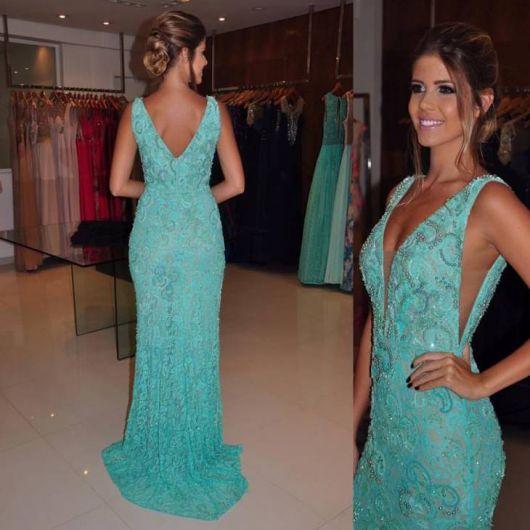 Vestido Azul Tiffany de Festa: como combinar e 73 modelos lindíssimos!