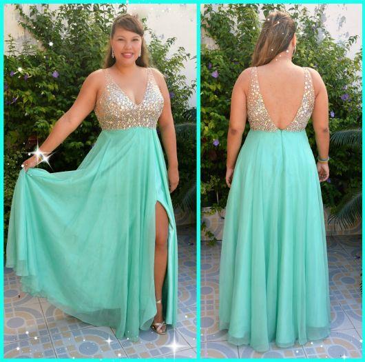 Cor de sapato para vestido verde azulado
