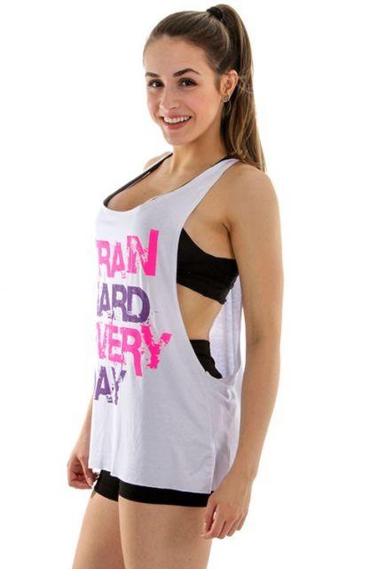 ce52e65898 Regata Cavada Feminina   Muscle Tee  DIY + 77 looks lindos!