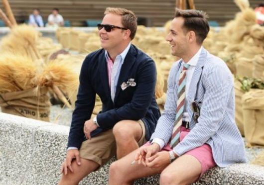short-masculino-curto-com-roupa-social