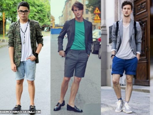 short-masculino-curto-sobreposicao-com-blazer