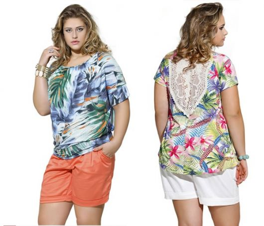 t-shirt-plus-size-grande-estampada-com-short