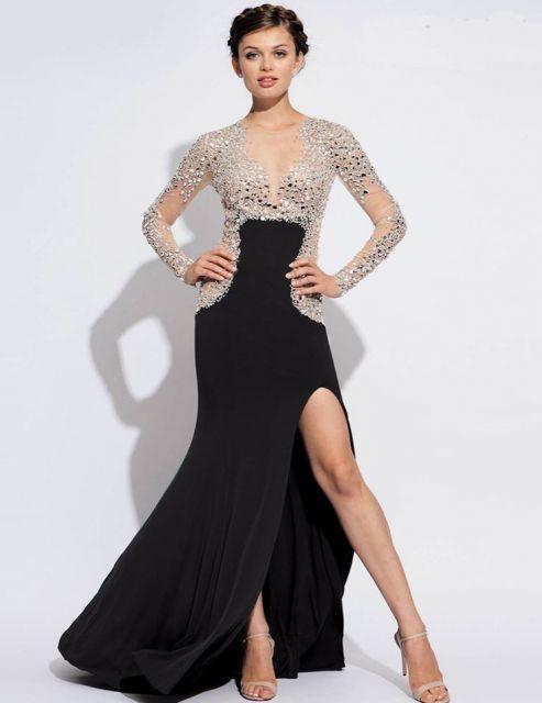 vestido-de-festa-manga-longa-renda-longo-ideias-usar