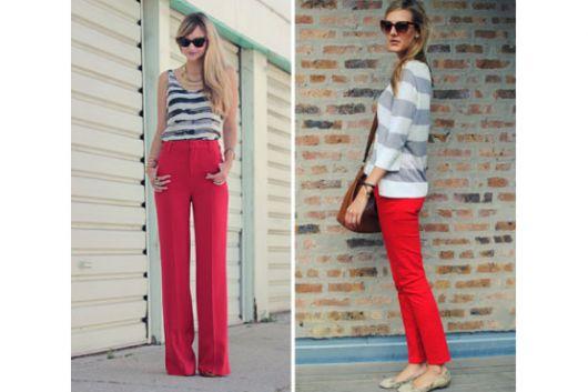 calca-vermelha-e-blusa-listrada