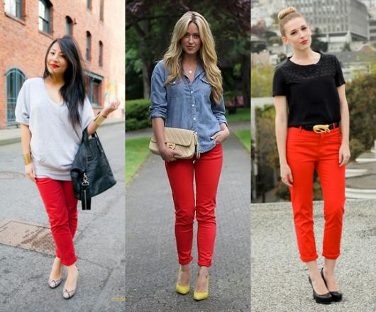 Calça Vermelha Feminina: Como usar e + de 100 modelos e looks
