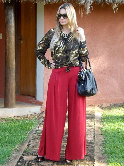 calca-vermelha-pantalona-social-chique