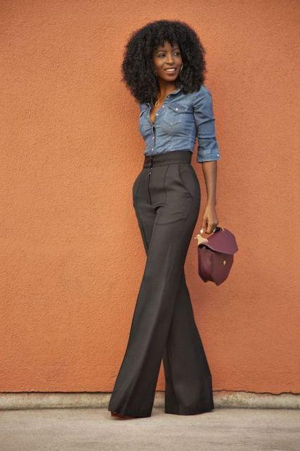 calça alfaiataria marrom