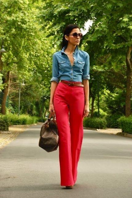 calça com camisa jeans