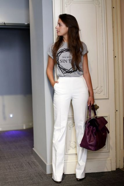 calça branca alfaiataria