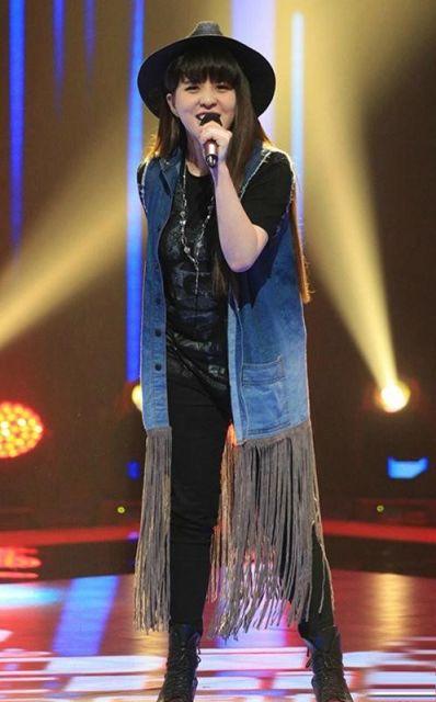 colete jeans longo