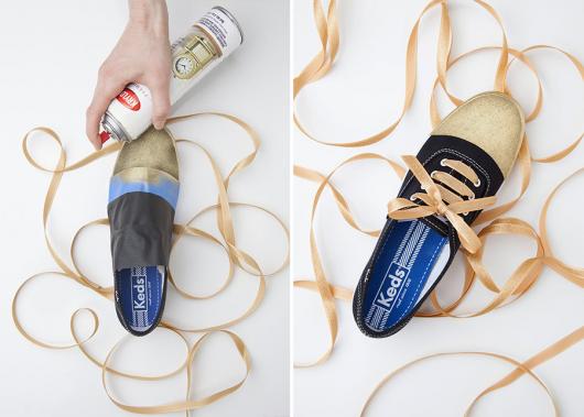 customizacao-de-tenis-dourado