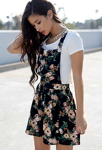 jardineira-saia-floral