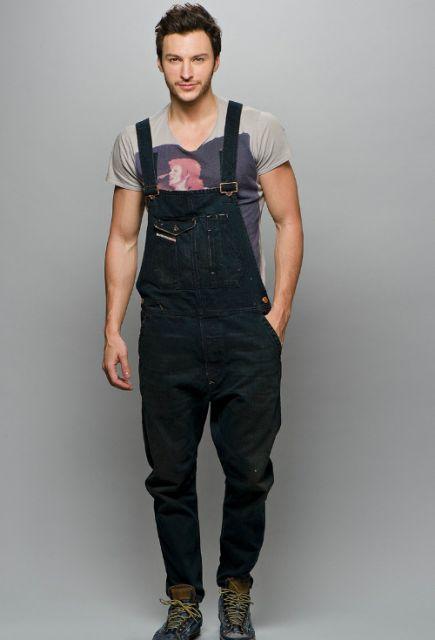 Jardineira masculina como usar modelos 42 looks incr veis for Jardineira jeans feminina c a
