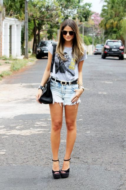 look com T-shirt feminina