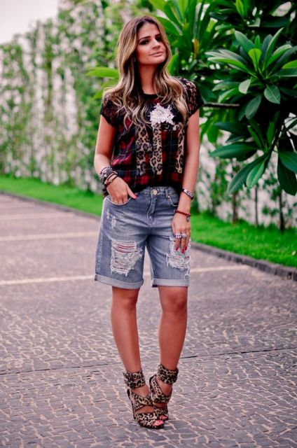 short estilo bermuda