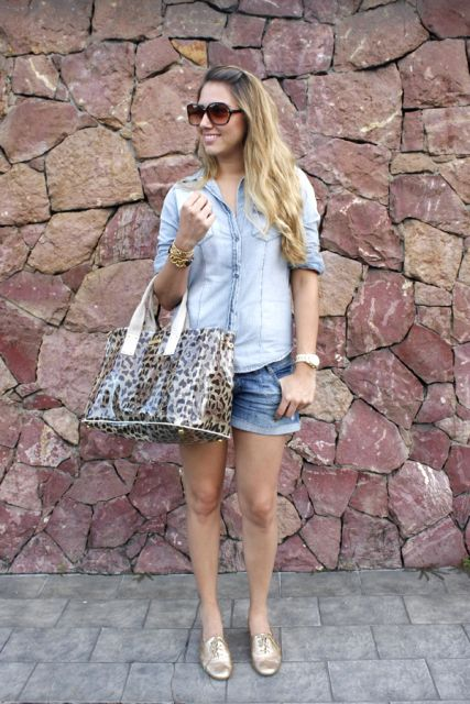 look jeans com oxford